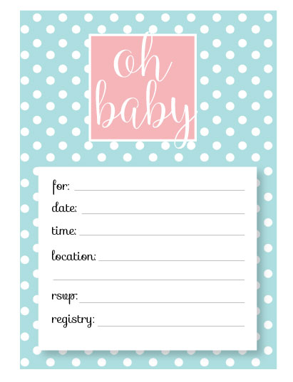 Printable Baby Shower Invitation Templates - FREE shower invitations - Free Baby Shower Invitations Templates Printables