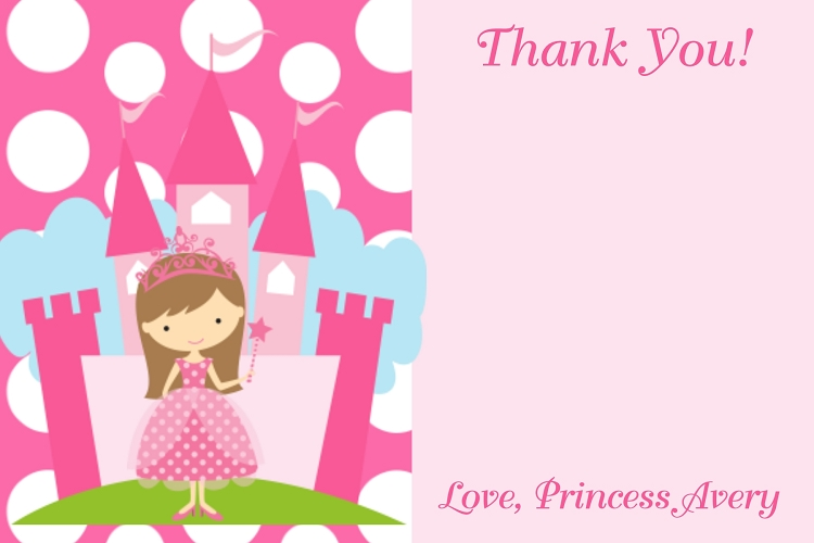 Princess Castle Birthday Party Invitations Printable Or
