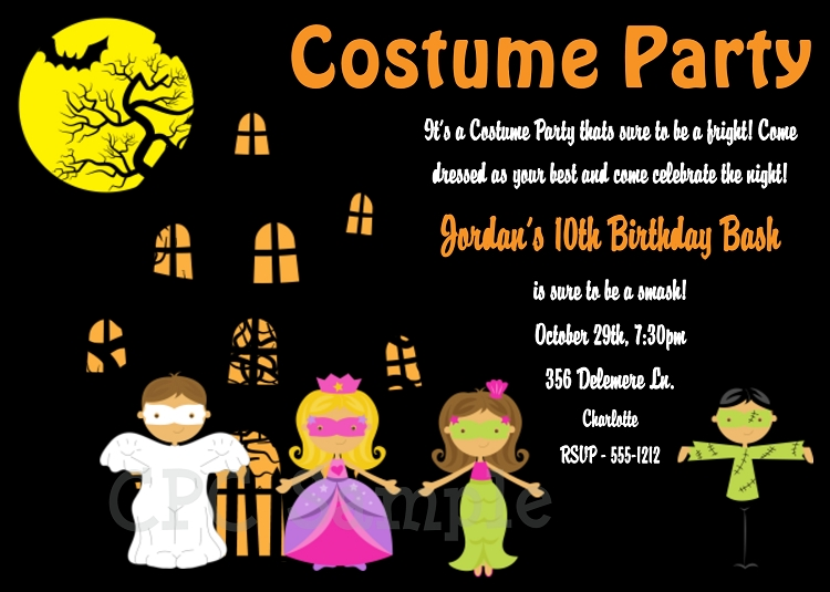 Halloween Party Invitations for Kids - Printable or Print Your Own