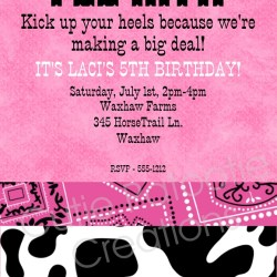 Print party invitations dream wedding ideas around the world pink cow print birthday party invitation printable or printed filmwisefo