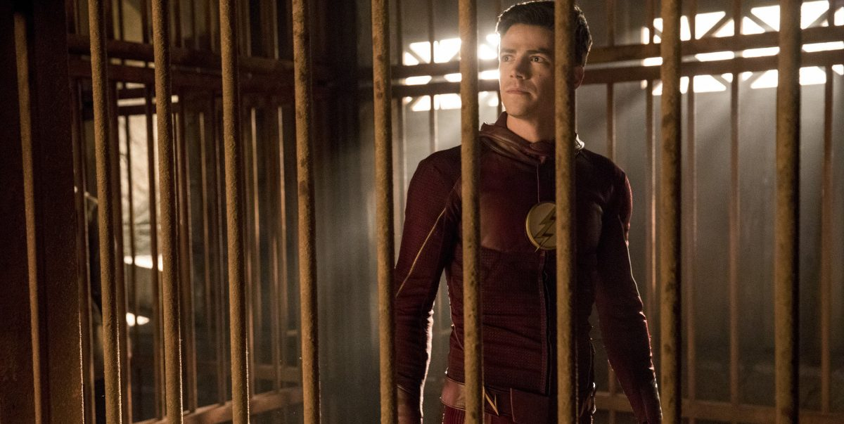 "The Flash -- ""Attack on Gorilla City"" -- FLA313d_0444b.jpg -- Pictured: Grant Gustin as Barry Allen -- Photo: Jack Rowand/The CW -- © 2017 The CW Network, LLC. All rights reserved."