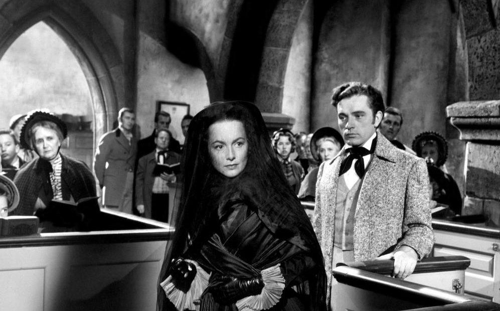 MY COUSIN RACHEL, Olivia de Havilland (center, wearing veil), Richard Burton (right of de Havilland), 1952, TM and Copyright © 20th Century Fox Film Corp. All rights reserved,