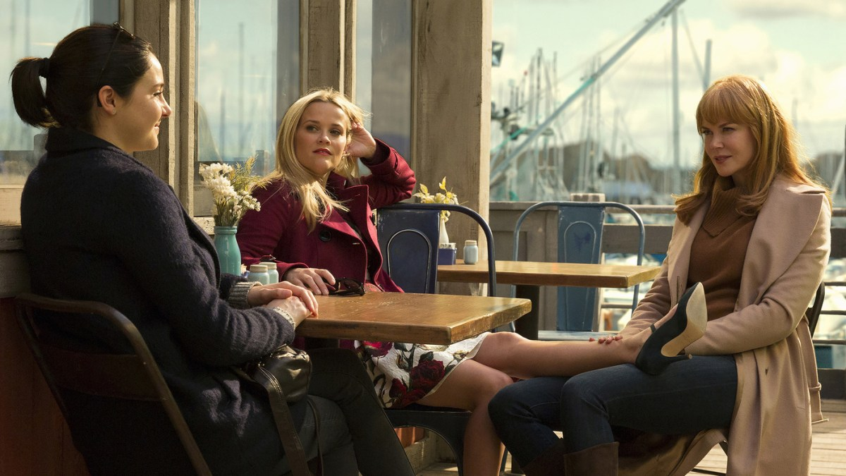 Shailene Woodley, Reese Witherspoon and Nicole Kidman play Monterey moms — and possible murderers — in the HBO miniseries Big Little Lies.<