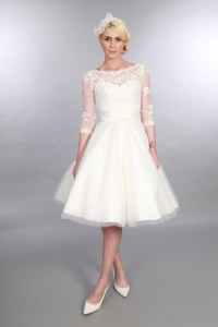 25 Of The Most Beautiful Tea Length Short Wedding Dresses ...