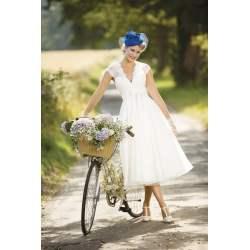 Indulging Cap Sleeve Eva Tea Calf Vintage Short Wedding Dress By Brighton Belle Belle Wedding Dress 2017 Belle Wedding Dress Movie Eva Calf Tea Length Wedding Gown