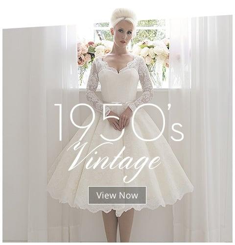 Style Wedding Dresses 1950s