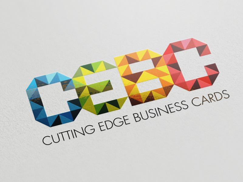 Cutting Edge Business Cards 4/4 Full Color Business Cards