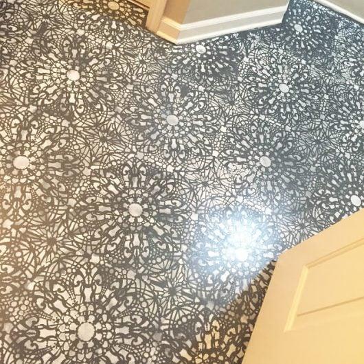 Stencils Can Revamp A Bathroom Floor