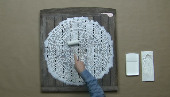 Make Reclaimed Wood Wall Art Using Mandala Stencils