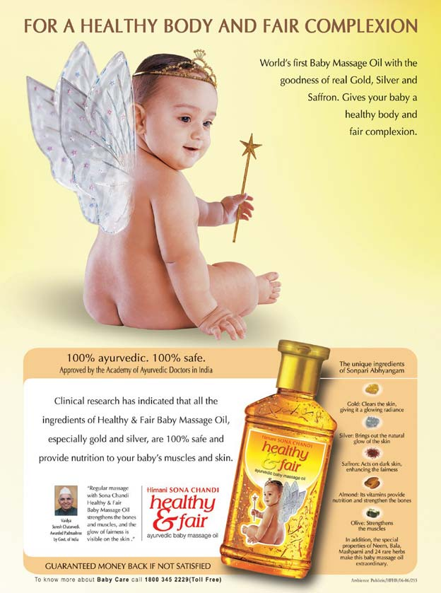 Himani Healthy & Fair: A fairness massage oil for babies!