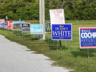 During campaign season, political signs pop up like weeds.