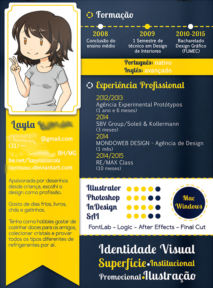 faire un cv in design