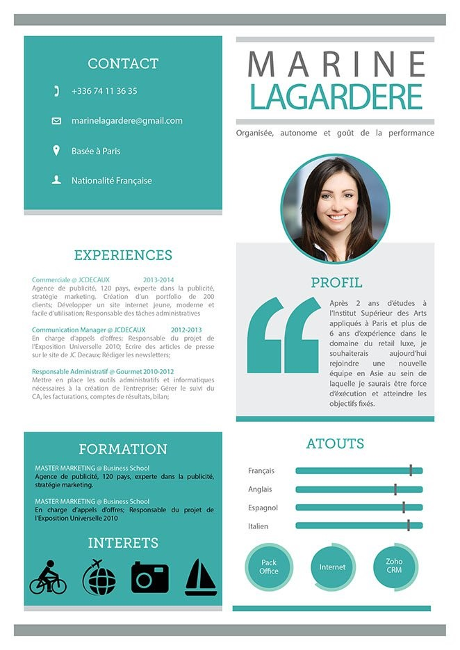 cv lettre motivation moderne