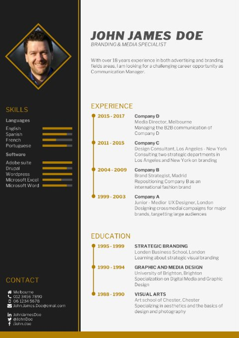 free downloadable cv template