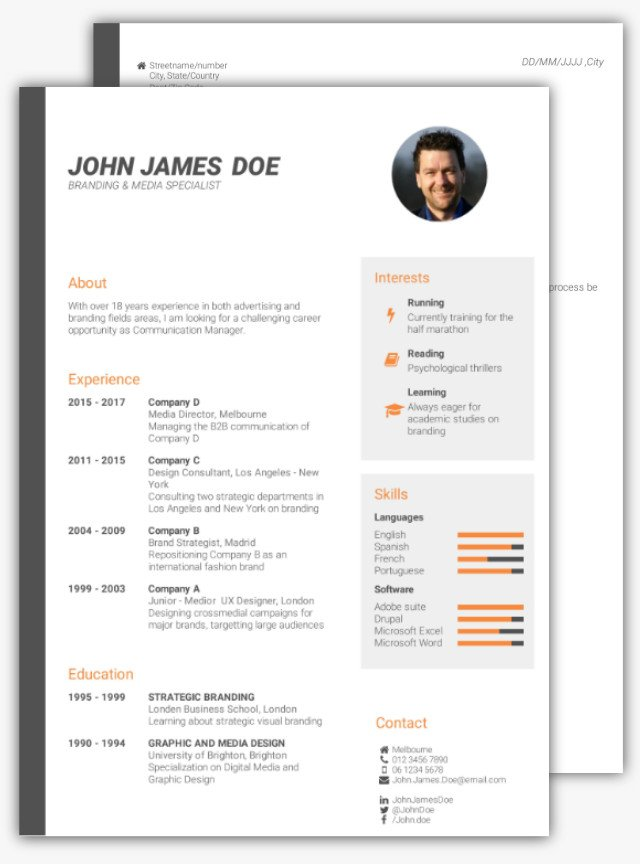 how to make a cv for job