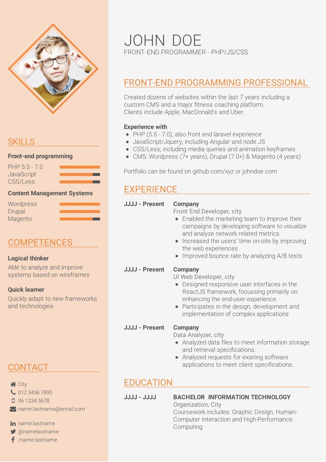 skills based cv format