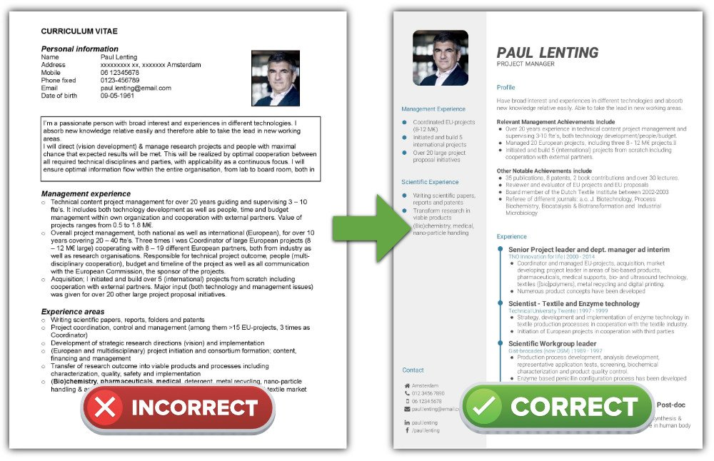 What is the best CV format? - How to write a CV CV-Template