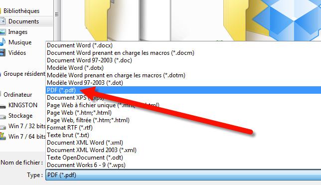 exporter pdf cv