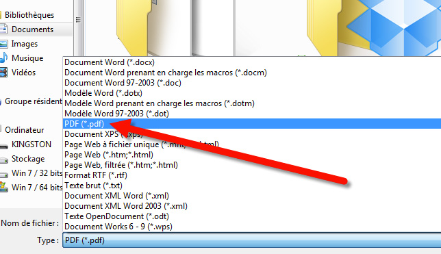 creer un cv pdf comme word