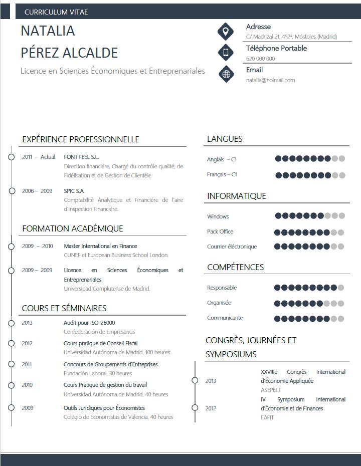 Plantillas y modelos de curriculum en francés CVExpres