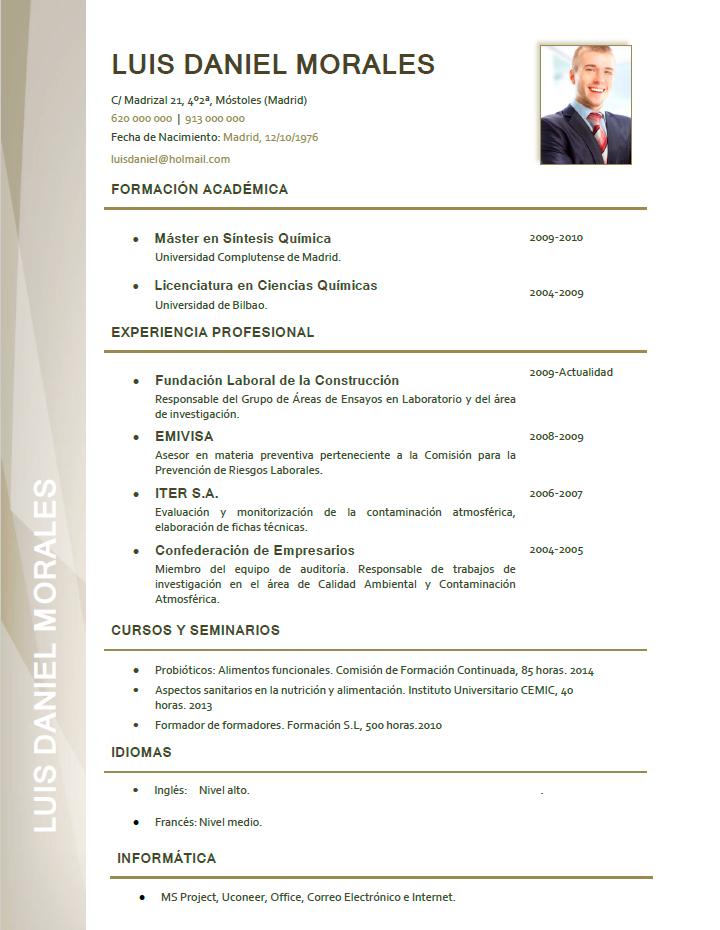 Elaboración de curriculum profesional Plantillas de CV para empresas