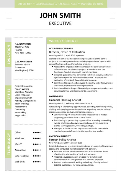 Executive Resume Template + Cover Letter + Portfolio - resume templates executive