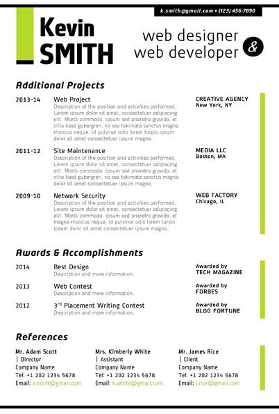 web designer resume word format - Trisamoorddiner - Web Design Resume Example