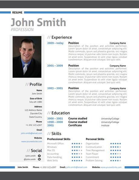 Modern Resume Template + Cover Letter + Portfolio