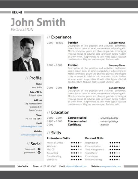 Modern Resume Template + Cover Letter + Portfolio - Modern Resume Templates