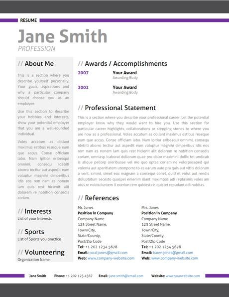 should i use microsoft word resume template