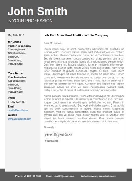 modern cover letter templates for resume - Maggilocustdesign