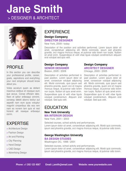 Professional Resume Template + Cover Letter + Portfolio