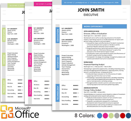 Executive Resume Template + Cover Letter + Portfolio