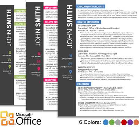 CVfolio Best 10 Resume Templates for Microsoft Word - Ms Word Resume Templates