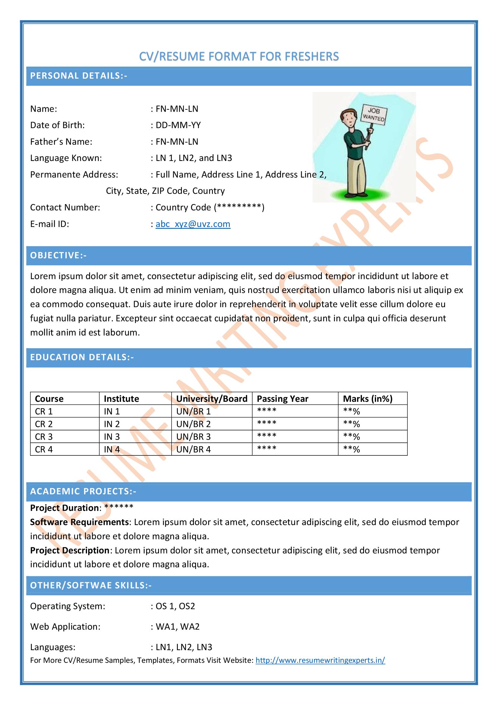 cv examples skills based