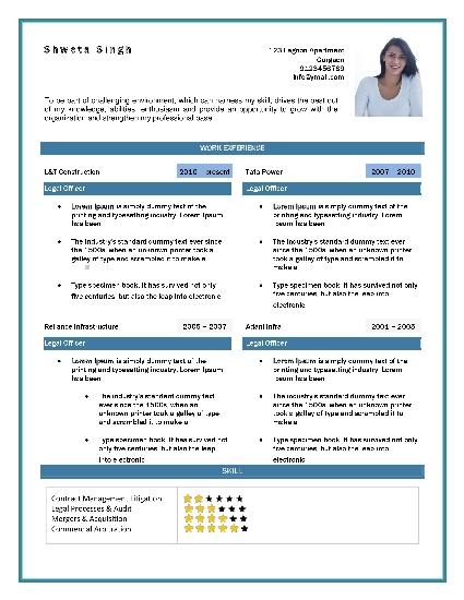 Curriculum Vitae Format Best CV Formats - CV Formats