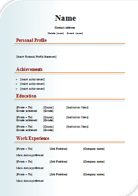 blank quick resume templates resume templates for word free download and software design cv template - Quick Resume Template