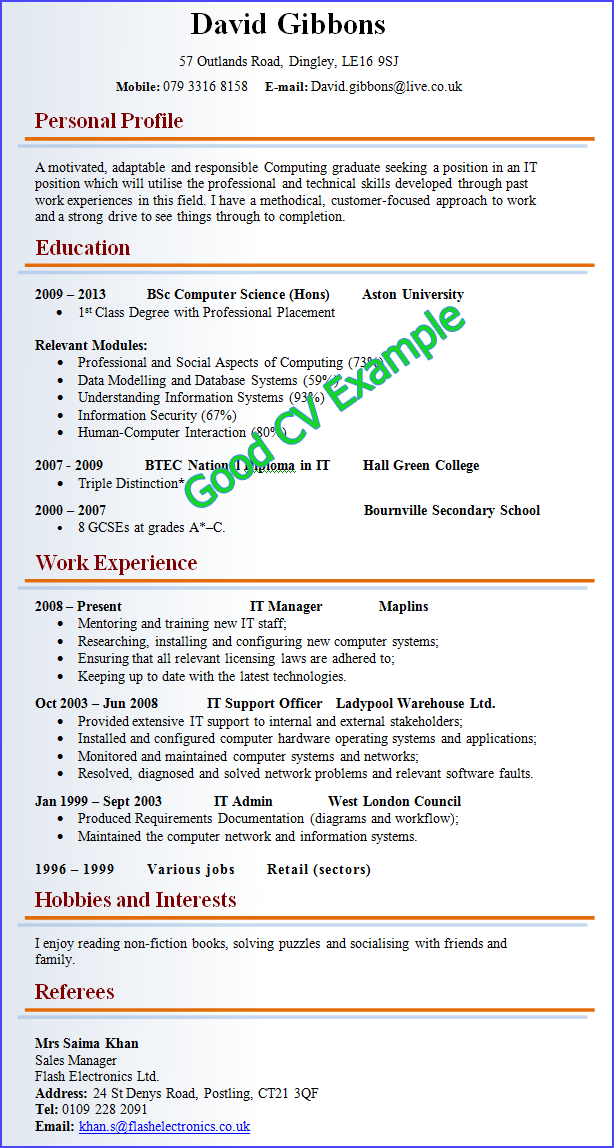 how to improve your cv tips how to improve your cv cvtips very good example of