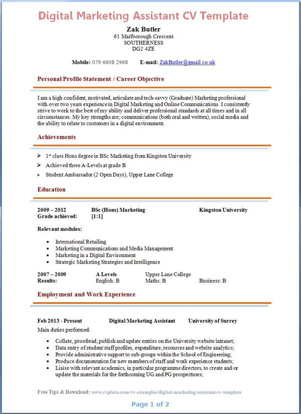 sample resume of marketing communication manager