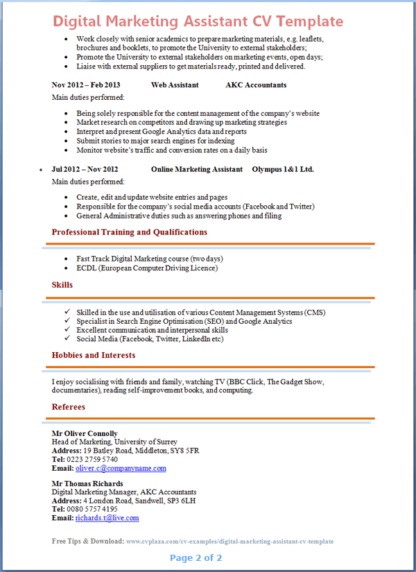 ccna experience resume format