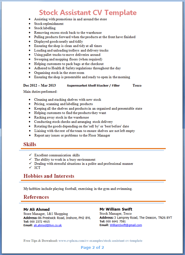 IT CV template  CV library  technology job description  Java CV     Introducere