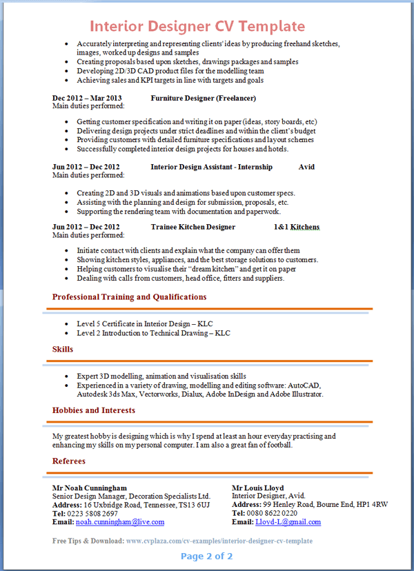 producing a resume