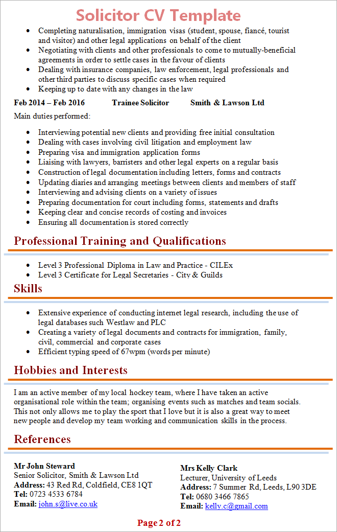 Cv Templates Download Microsoft Word Download 275 Free Resume Templates For Microsoft Word Solicitor Cv Template 2