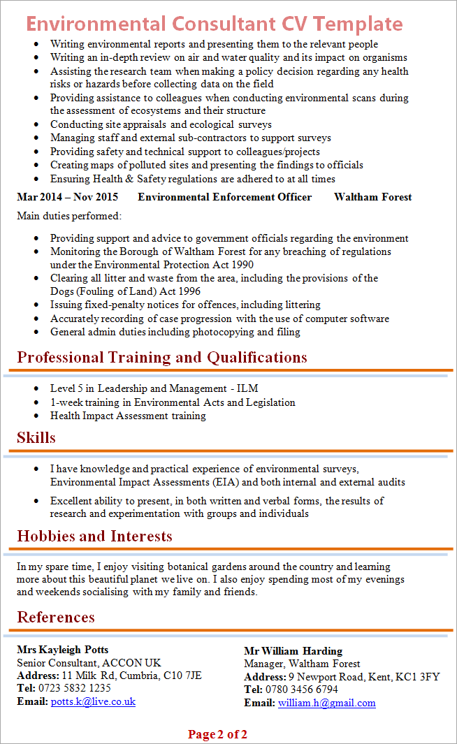 email address for resumes