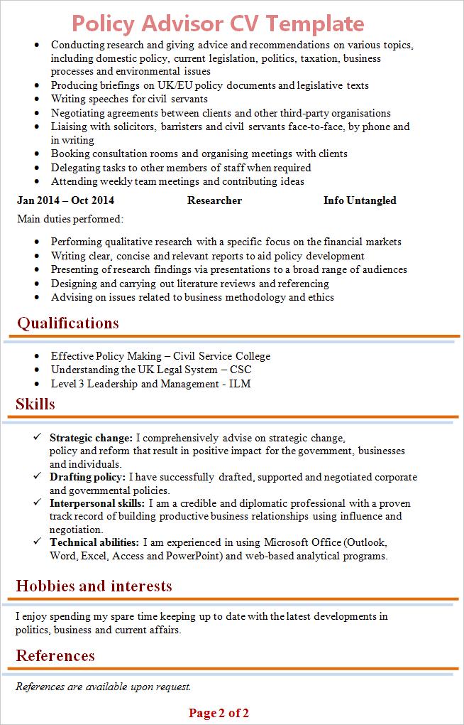 cv pinterest template