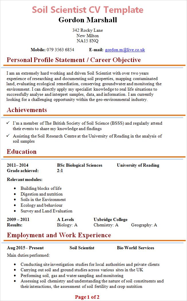 graduate cv tips