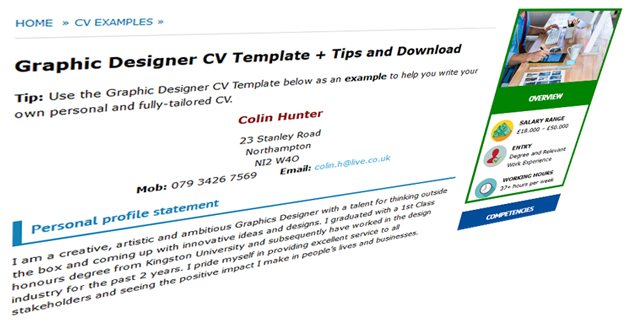 Good CV Examples  Templates for 100+ jobs - CV Plaza - a great cv example