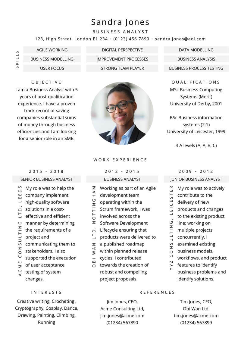 Business Process Consultant Sample Resume