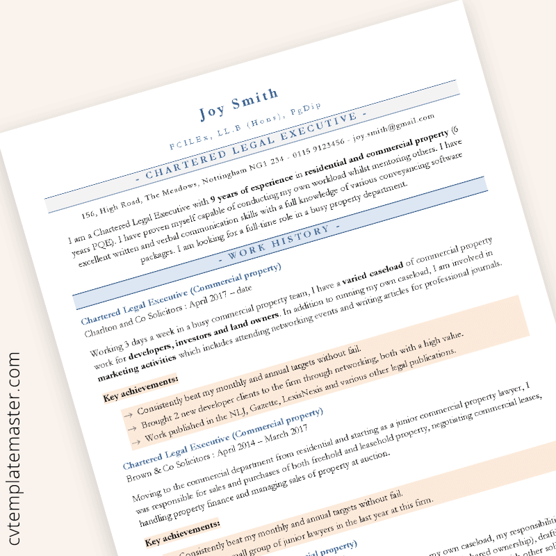 ats friendly resume template 2019