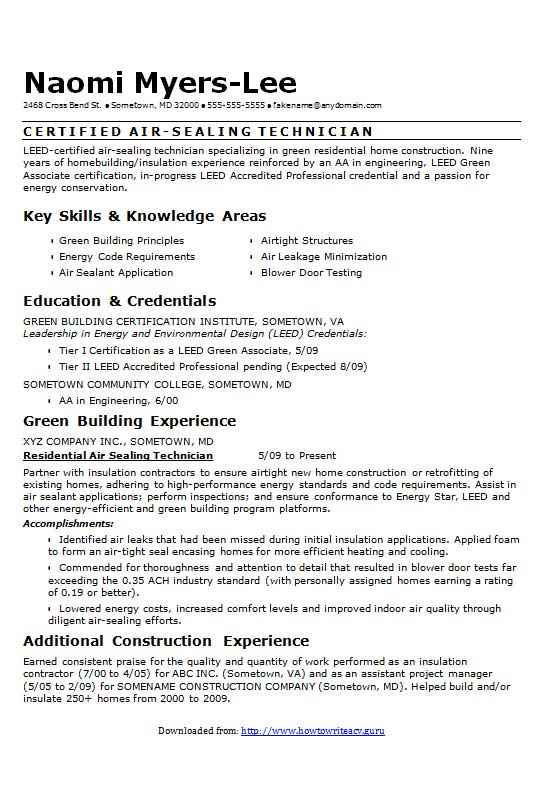 filled out resume examples - Vatozatozdevelopment - energy conservation engineer sample resume